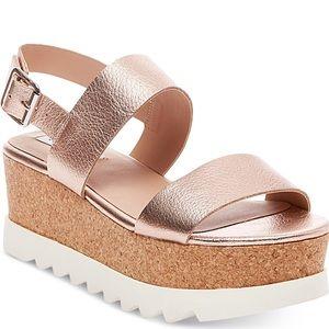 Steve Madden rose gold platform krista sandal 6.5